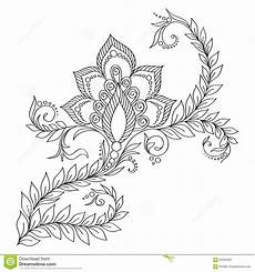 pattern for coloring book floral elements in indian style