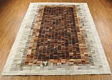 Kuhfell Teppich Patchwork - kuhfell teppich patchwork braun 200 x 150 cm