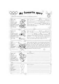 sports worksheets for middle school 15728 worksheet my favourite sport reading deportes en ingles actividades de ingles