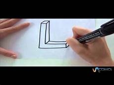 c 243 mo hacer la letra l en 3d how to make the letter l in