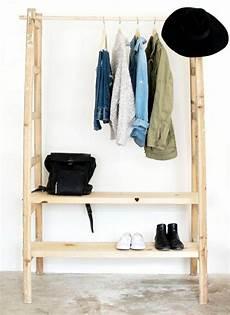 kleiderständer selber machen ankleidezimmer selber bauen bastelideen anleitung und