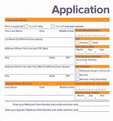 free 9 medicare application forms in pdf
