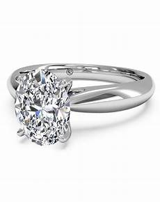 ritani solitaire diamond tapered engagement ring with surprise diamonds in 14kt white gold 0