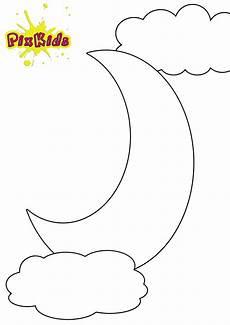 Ausmalbilder Mond Kostenlos Ausmalbild Mond Halbmond Kostenlose Malvorlagen