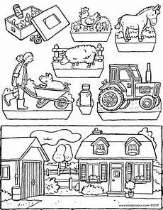 Malvorlagen Bauernhof Urlaub Der Bauernhof Guckkasten Kiddimalseite