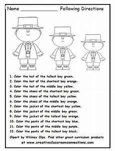 following directions worksheets grade 7 11701 teaching pictures and printed on