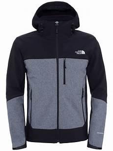 the apex bionic zip windproof hoodie jacket black grey at lewis partners