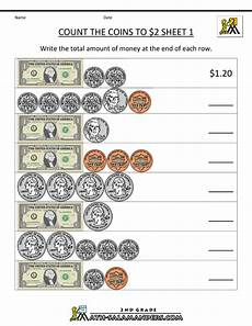 money printable worksheets 3rd grade 2692 2nd grade math worksheets count the coins to 2 dollars 1 money math worksheets money math