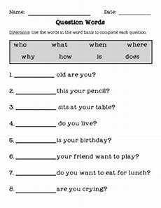 question words worksheets for grade 2 tales of a teacherista question