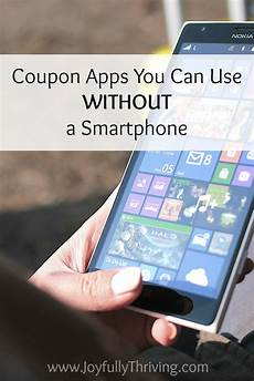 coupon apps you can use without a smartphone