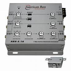 american bass abx31a 3 way active crossover walmart com