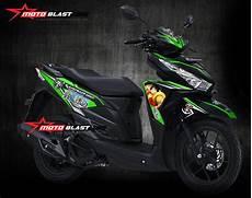 Modifikasi Striping Honda Vario 150 by Modifikasi Striping Honda Vario 150 Black One Green