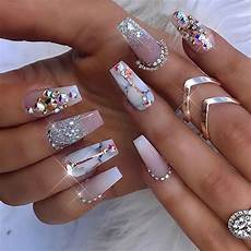pretty diamond nail designs engagement nails bling nails