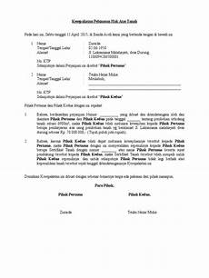 contoh kesepakatan pelunasan pembelian tanah