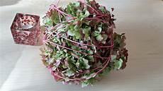 deko mit getrockneten hortensien tischdekoration im herbst mit den bl 252 ten der hortensie
