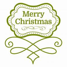 merry christmas decorative emblem transparent png svg vector file