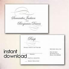 postcard address template word diy wedding rsvp postcard template instant
