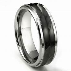 tungsten carbide 8mm wave finish wedding band ring