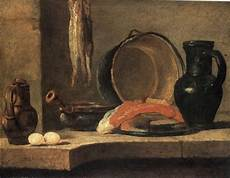 The Kitchen Jean Baptiste Simeon Chardin by Still With Herrings C 1731 Jean Baptiste Simeon