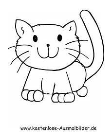 ausmalbilder einfache katze 1 tiere zum ausmalen