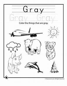 color gray worksheet woo jr activities