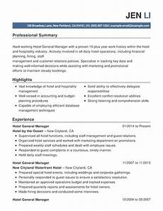 hotel hospitality combination resume sles exles format templates resume help