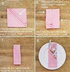 servietten falten besteck cutlery fold out napkins 15 for the banquet