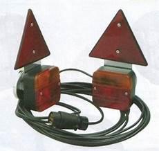 kit signalisation magnetique deux feux de remorque avec