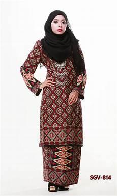 baju kurung sutera crepe cetakan bercorak songket saeeda collections saeeda collections