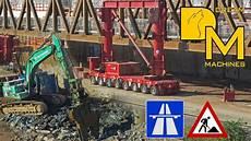 baustellen a 7 caterpillar 345d ale heavy lift mega autobahn