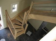 escaliersbois64800 escalier 224 2 quarts tournant avec