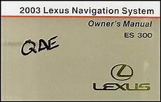 automotive service manuals 1999 lexus es navigation system 2003 lexus es 300 navigation system owners guide book original