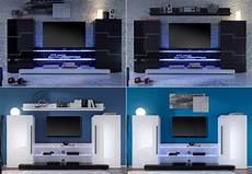 wohnwand twin wohnwand twin wohnzimmer anbauwand in schwarz und wei 223