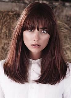 damen frisuren mit pony pin marina hair auf frisuren trends frisur lange