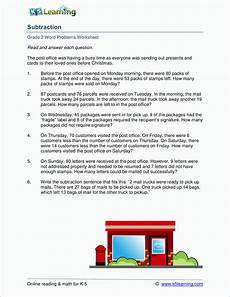 2nd grade subtraction word problem worksheets k5 learning