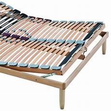 materasso e doghe rete a doghe in legno con alzata manuale testa piedi lemon