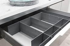 divisori per cassetti set 6 pezzi separatore modulare per cassetti grigio