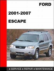 service repair manual free download 2000 ford escape engine control ford escape 2001 to 2007 factory workshop service repair manual tradebit