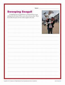 swooping seagull middle school writing prompt worksheet