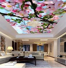 flower wallpaper ceiling 3d photo wallpaper custom ceiling livingroom mural