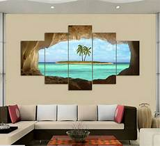 Home Decor Wall Painting Ideas by 5 Panel Canvas Seacape Living Rooms Set Wall Painting