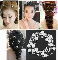 Perles Fil 1m50 Cheveux Coiffure Mari 233 E Blanc Violet