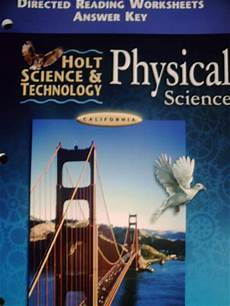 holt physical science textbook worksheets 13118 holt physical science directed reading worksheets answer ca p 0030557186 34 95