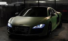 Audi R8 Gets Matte Green Wrap