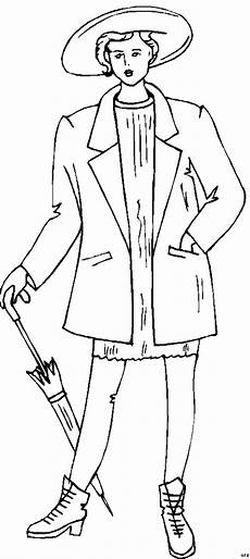 Gratis Malvorlagen Regenschirm Frau Mit Regenschirm 3 Ausmalbild Malvorlage Mode Und