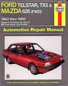 manual repair autos 1992 mazda 626 regenerative braking ford telstar tx5 mazda 626 1987 1992 gregorys service repair manual sagin workshop car manuals