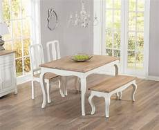 Parisian 130cm Shabby Chic Dining Table With Chairs And