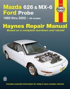 best car repair manuals 1994 mazda mx 6 transmission control mazda 626 mx 6 ford probe haynes repair manual covering 1993 2002 hay61042