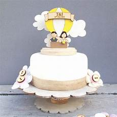 air balloon wedding topper shabby chic style personalised cake topper cakes pinterest