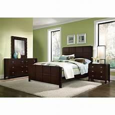 mosaic 6 piece queen bedroom dark brown value city furniture
